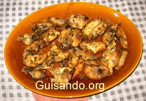 Aprenda a cocinar bien inutil el magn fico pollo al - Cocinar pollo al ajillo ...