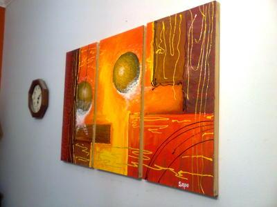 Espacio infinito cuadros for Cuadros en relieve abstractos