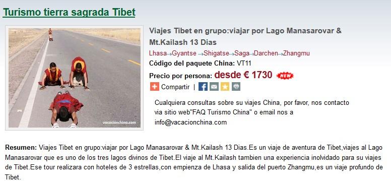 Viajes Tibet en grupo:viajar por Lago Manasarovar & Mt.Kailash 13 Dias