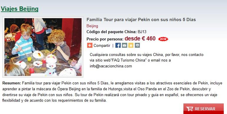 Familia Tour para viajar Pekin con sus niños 5 Dias