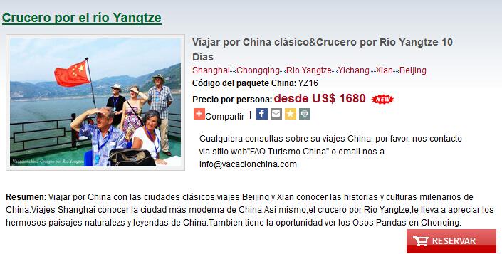 Viajar por China clásico & Rio Yangtze 10 Dias